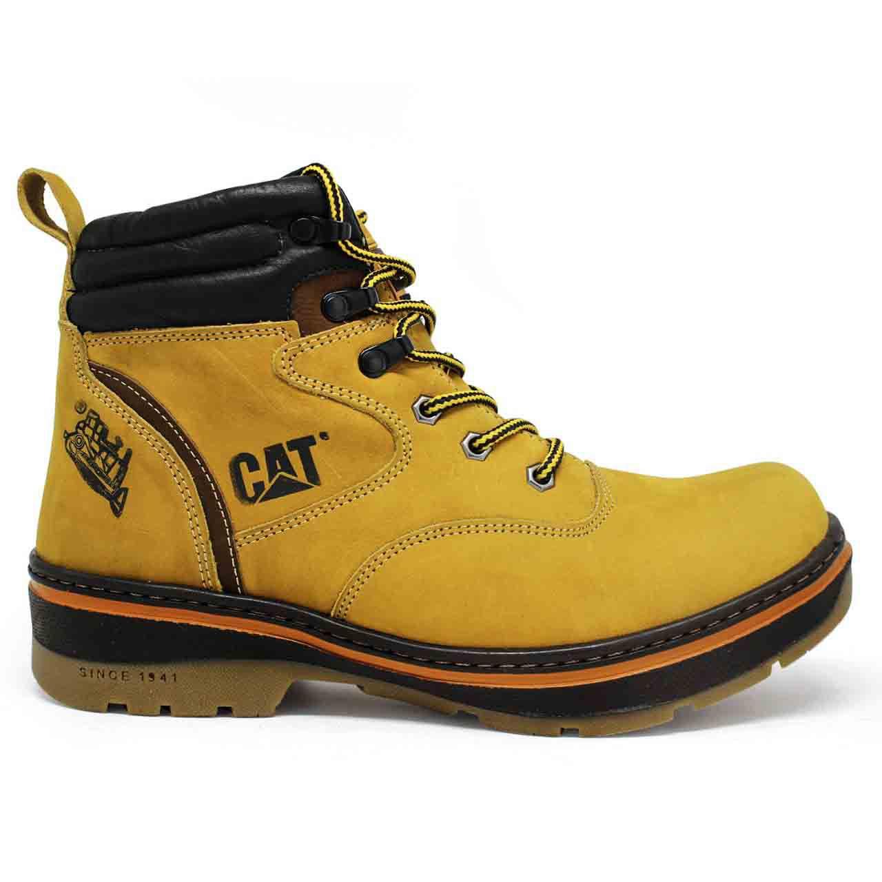1fe63bb2b67fd Bota Coturno Caterpillar Work Urban Couro - Yellow