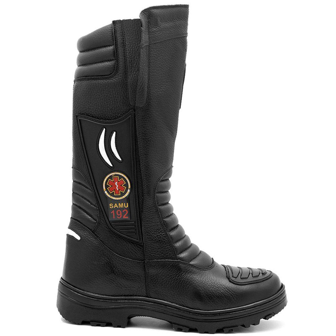 Bota Coturno Militar SAMU Atron Shoes 295 - Preto