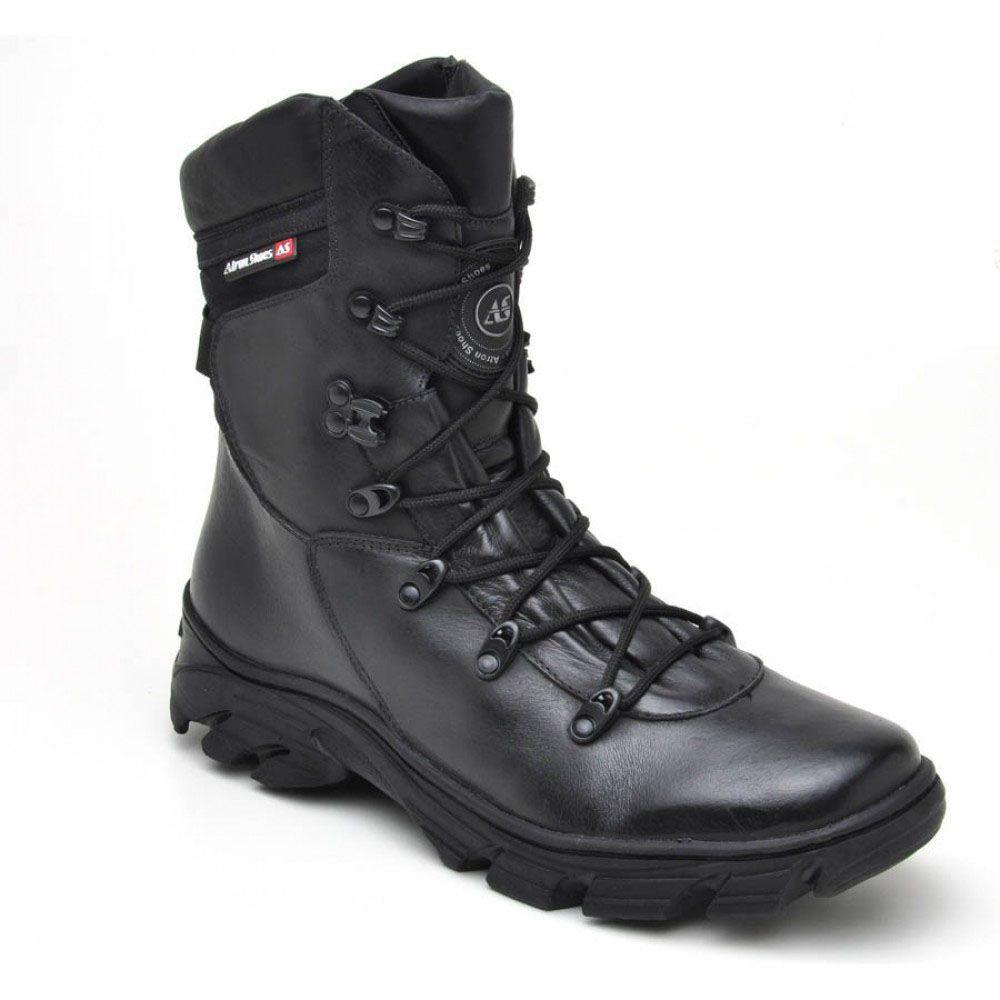 Bota Coturno Tático Militar Atron Shoes 280 - Preto