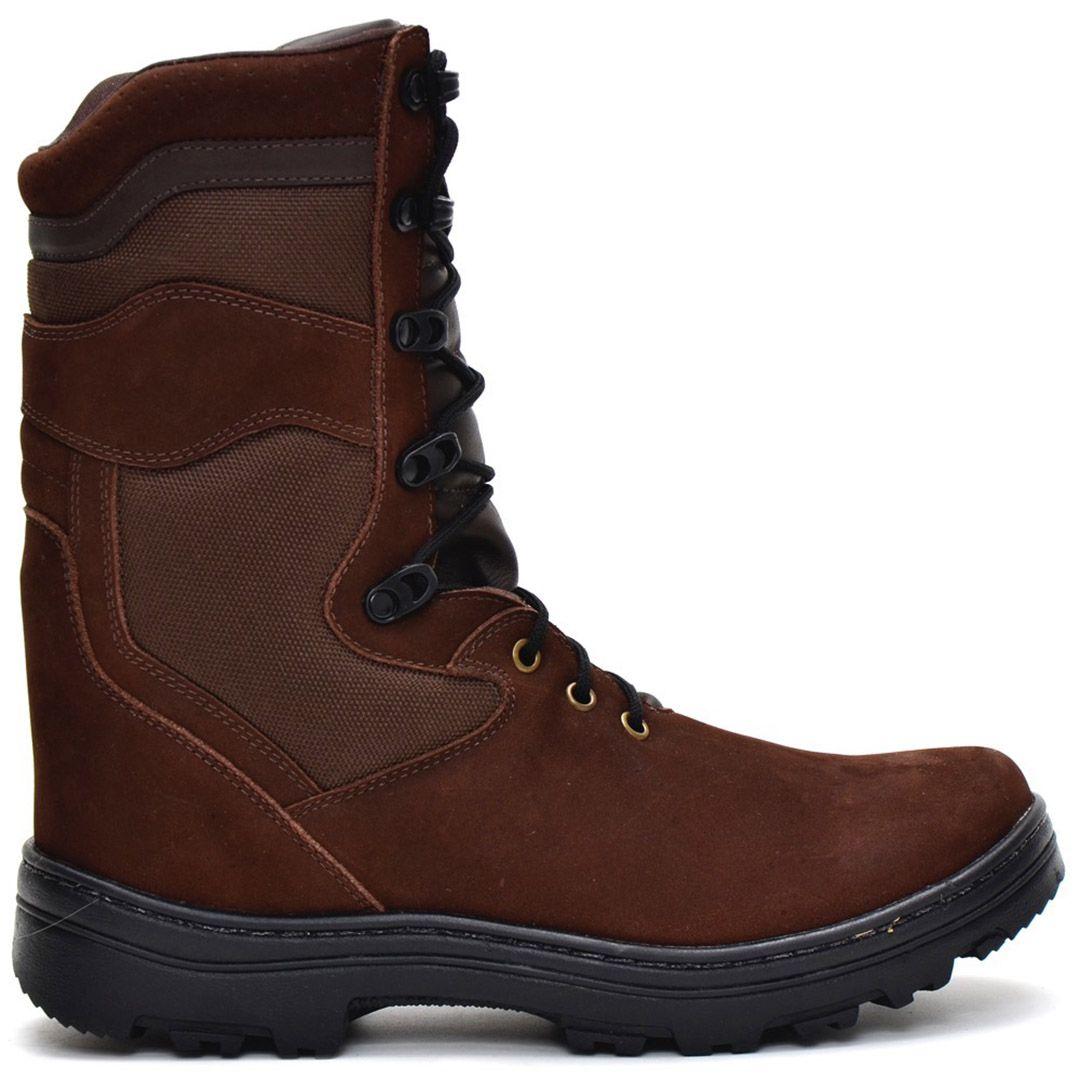 Bota Coturno Tático Militar Atron Shoes 290 - Café