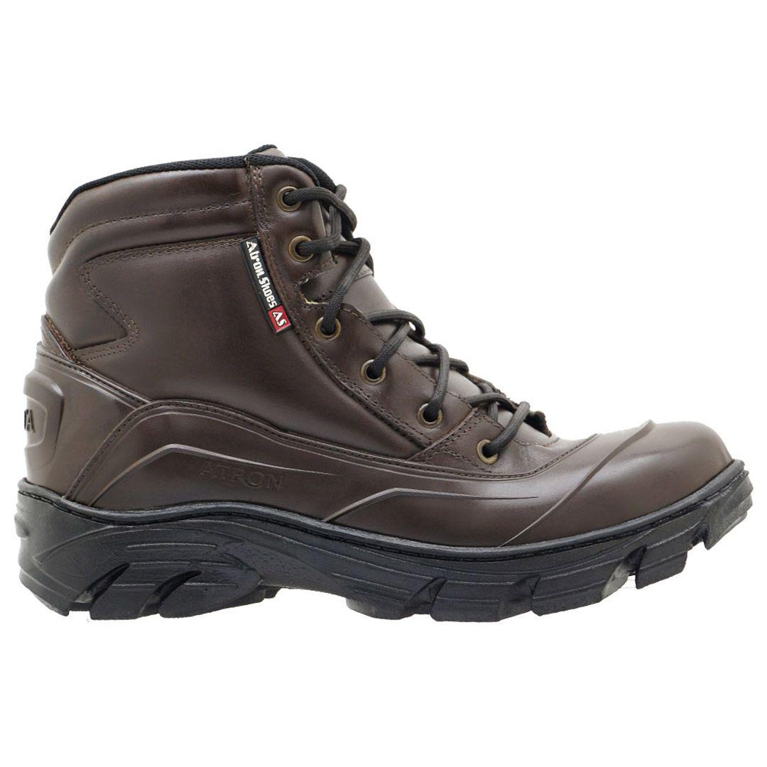 Bota Coturno Tático Militar Cano Baixo Atron Shoes 286 - Café