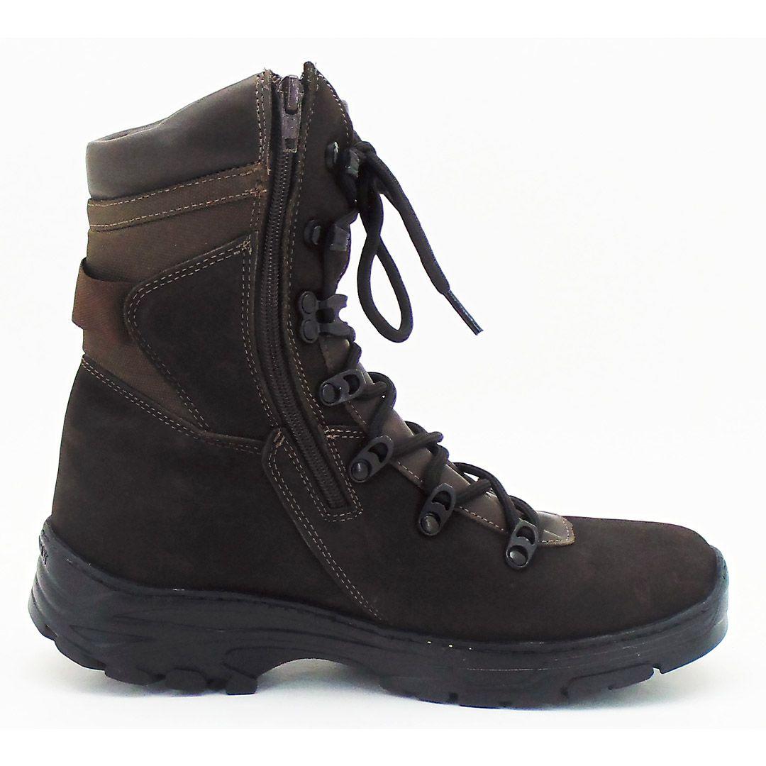 Bota Coturno Tático Militar com Zíper Atron Shoes 288 - Café