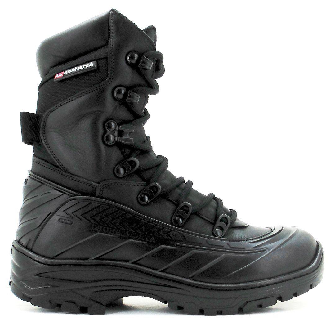 Bota Coturno Tático Militar com Zíper Atron Shoes 289 - Preto