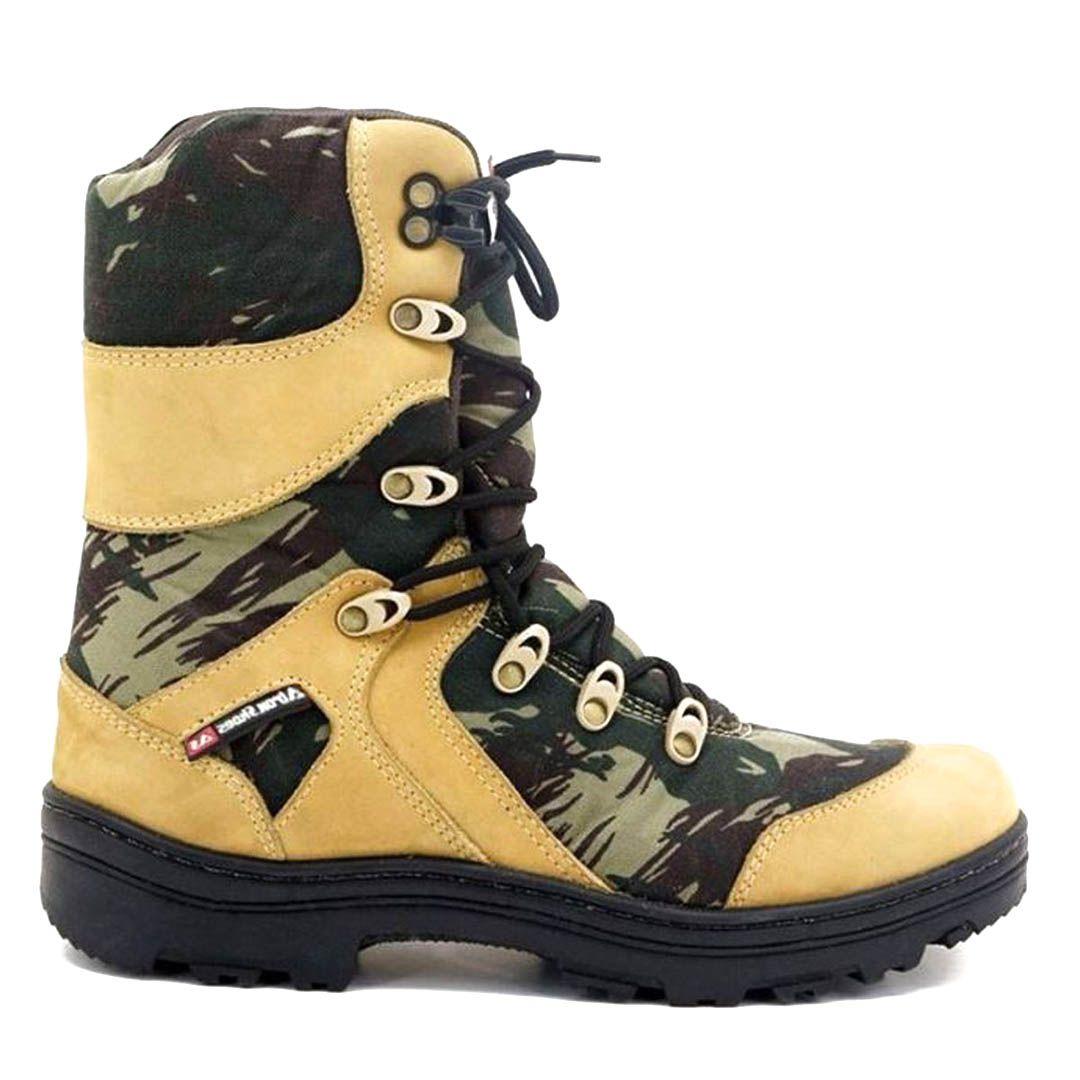 Bota Coturno Tático Militar Exército Atron Shoes 293 - Camuflada