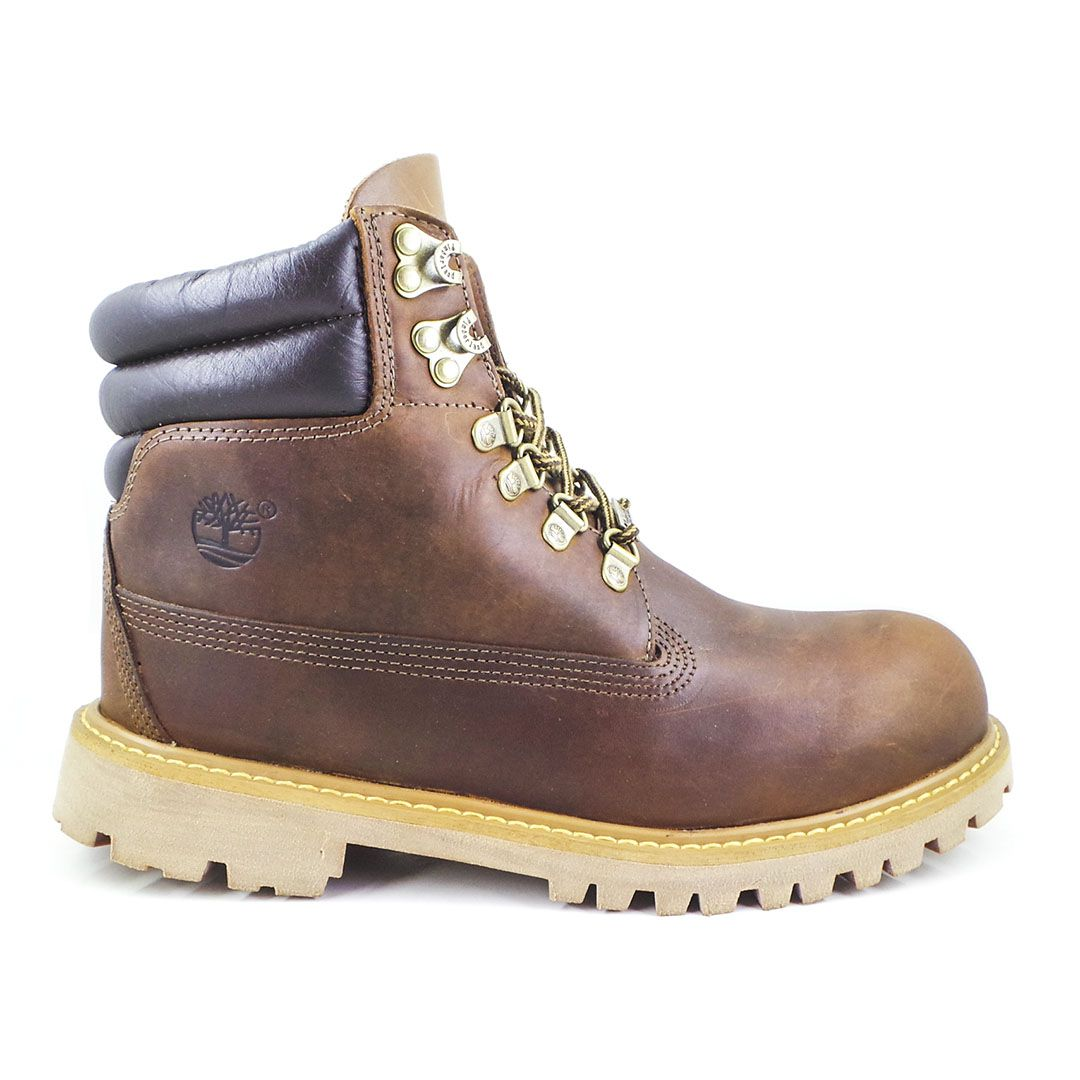 Bota Coturno Brooklyn Bunt Couro Crazy Horse - Brown