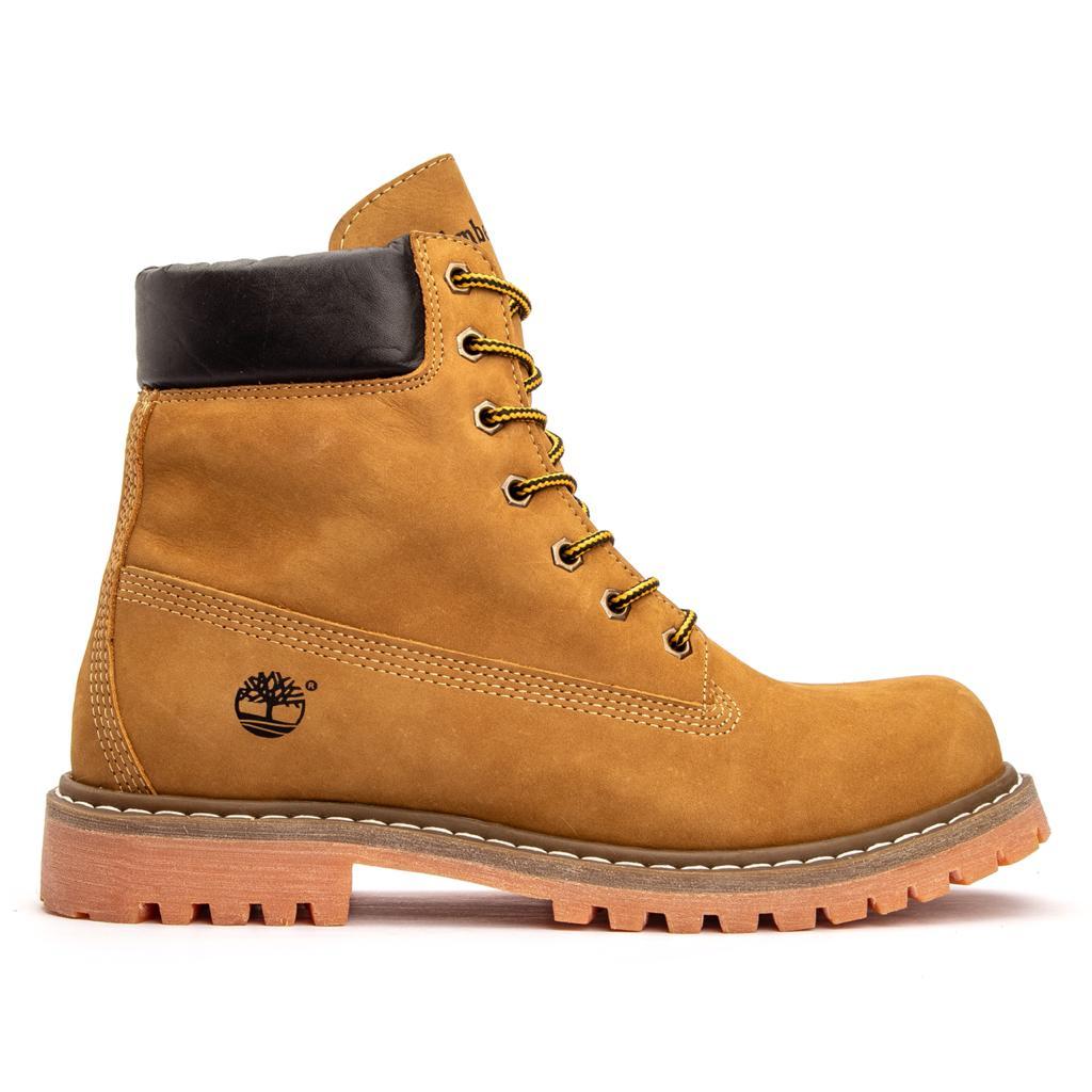 Bota Coturno Yellow Boot 6 Couro - Yellow