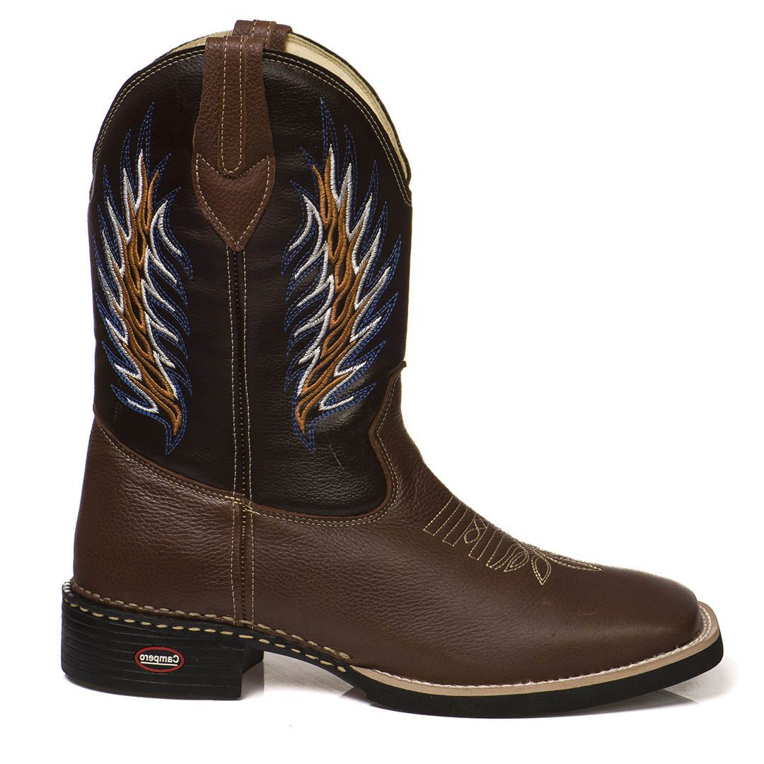 Bota Country Cano Longo Texana Couro Lisa