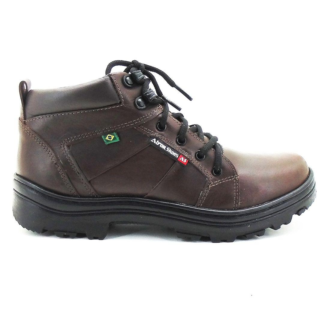 Bota Tática Militar Cano Baixo Atron Shoes 272 - Café