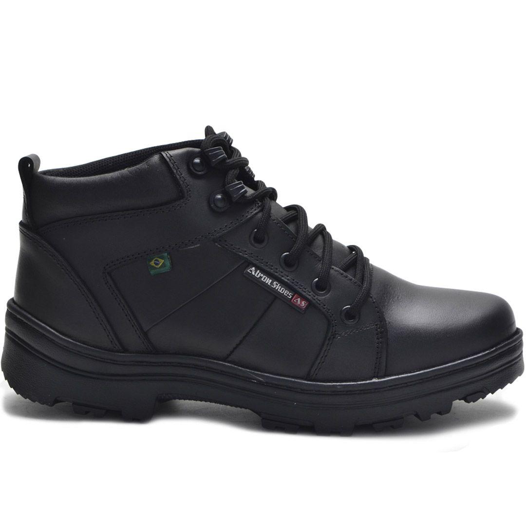 Bota Tática Militar Cano Baixo Atron Shoes 272 - Preto