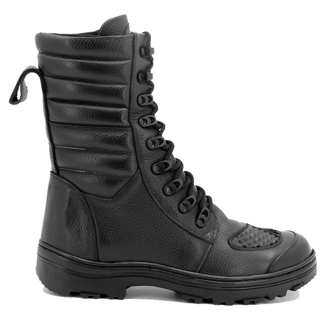 Bota Coturno Tático Militar com Zíper Atron Shoes 277 - Preto