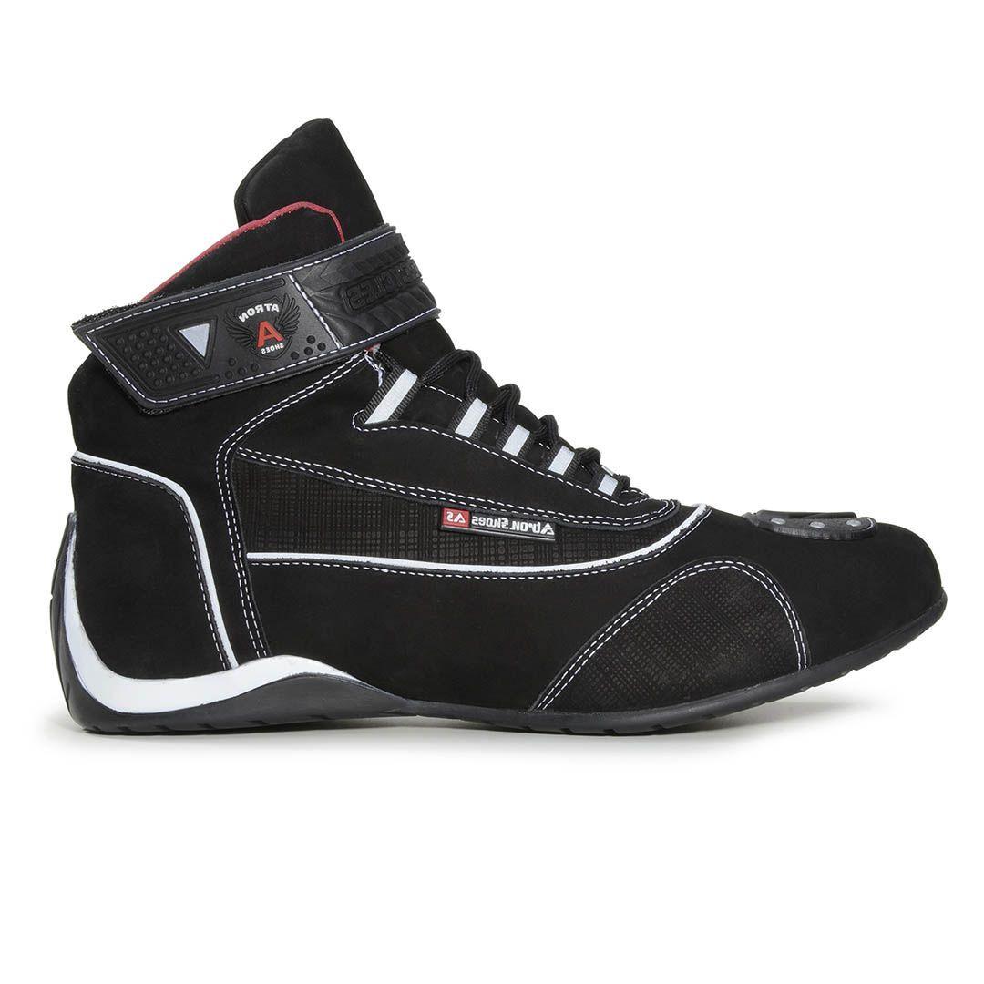 0f3018ec87 Bota Tênis Motociclista Refletivo Atron Shoes 310 Cano Alto Preto