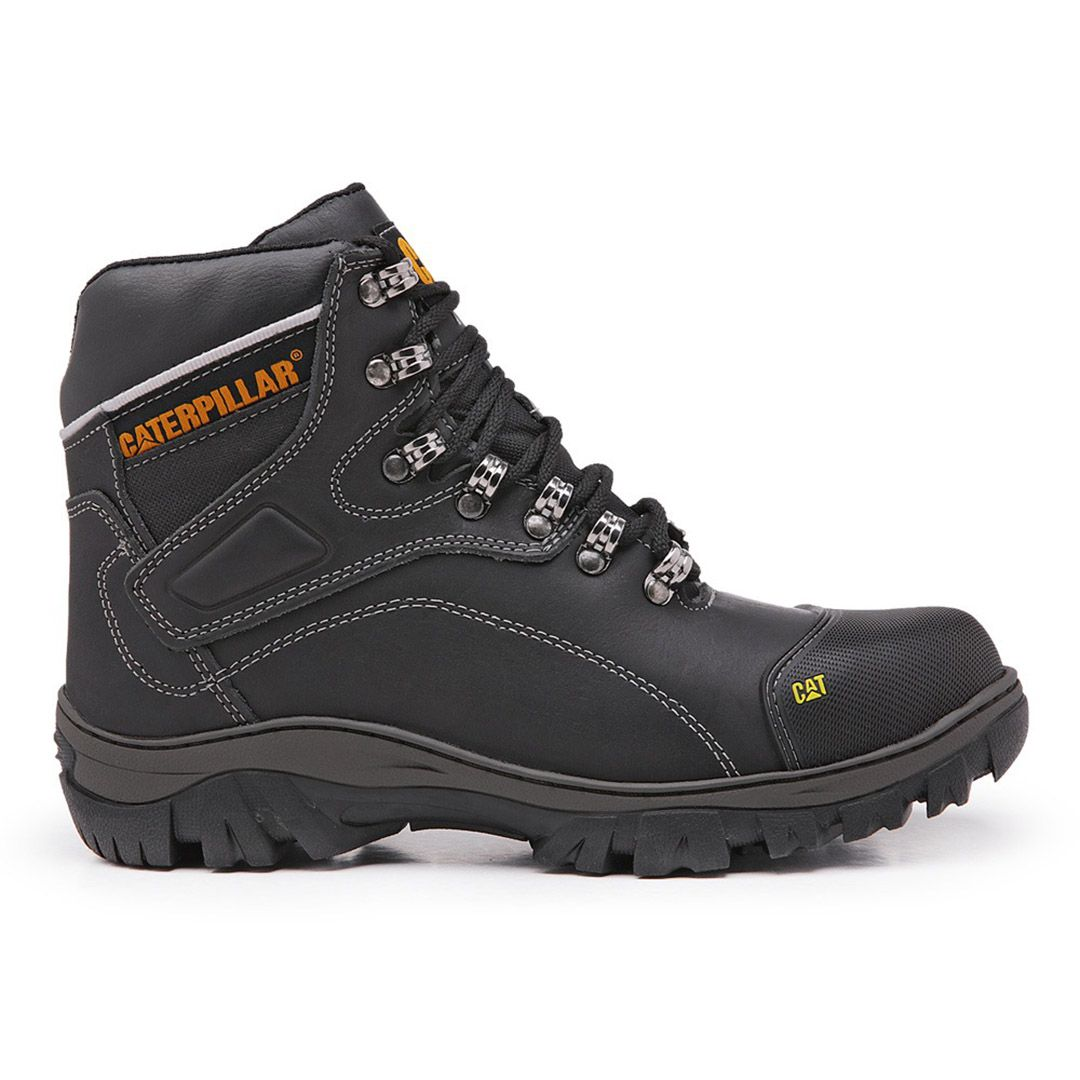 Bota Masculina Work Boot Desert 9820 Couro - Black