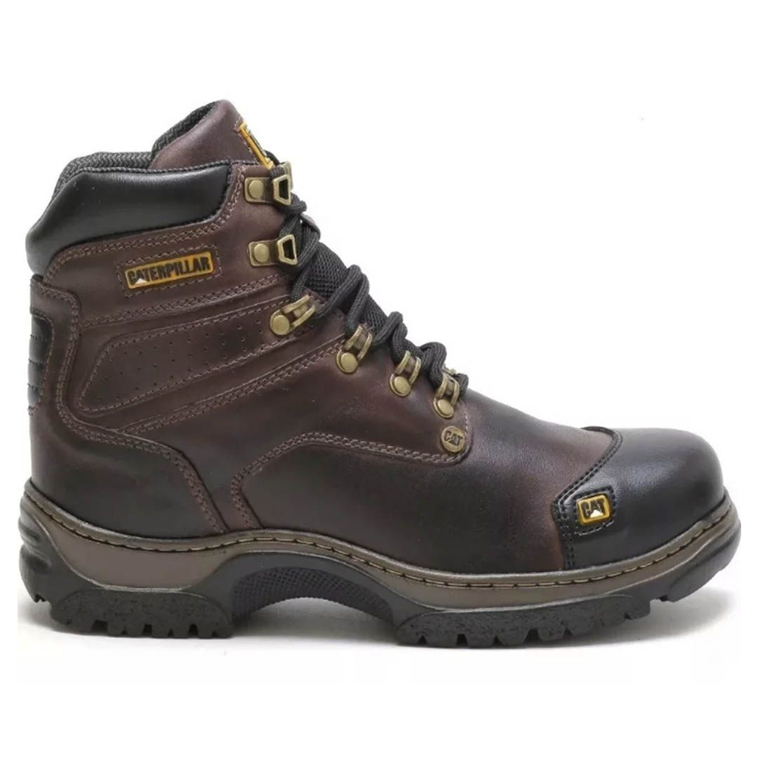 Bota Coturno Caterpillar Masculino Work Hard - Coffe