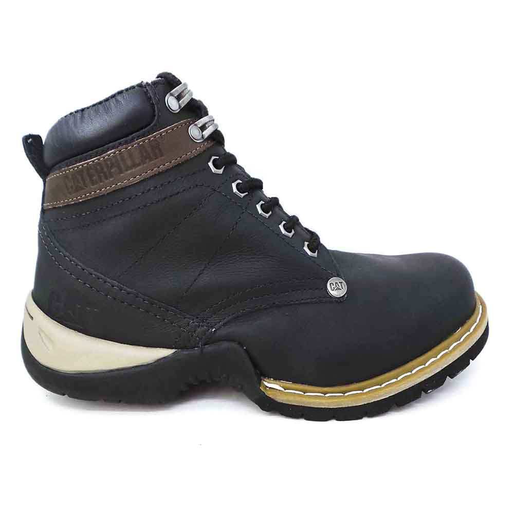 Coturno Masculina Work Boot Couro - Black