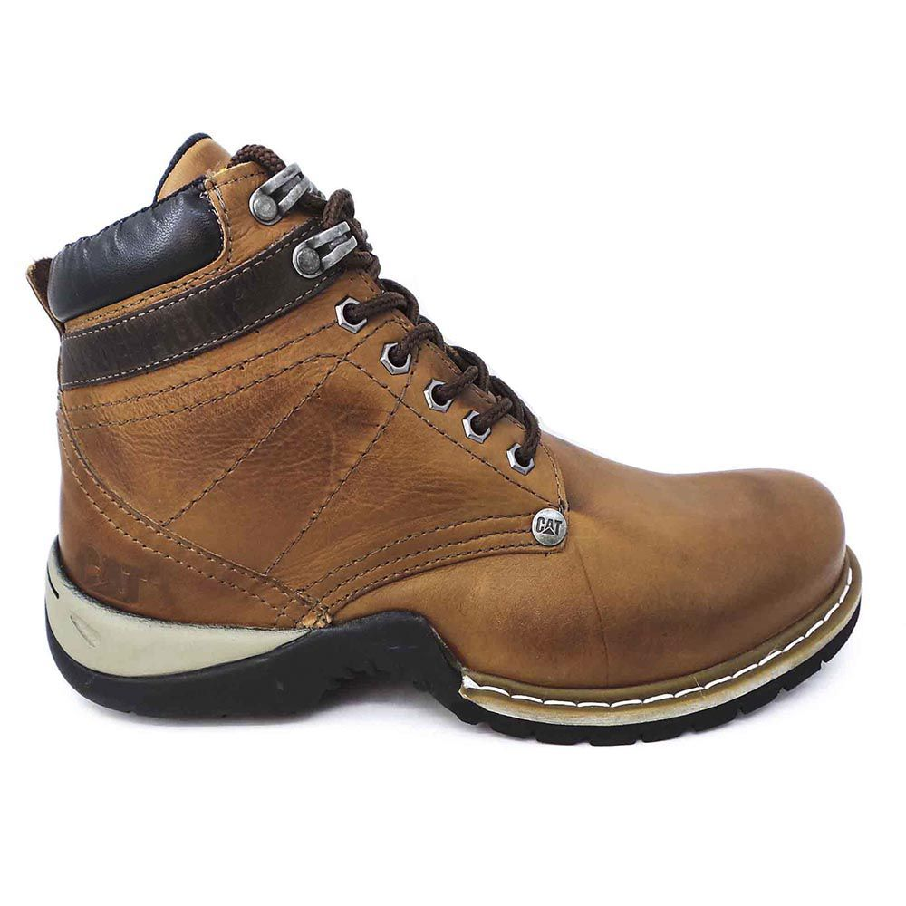 Coturno Caterpillar Masculina Work Boot Couro - Brown