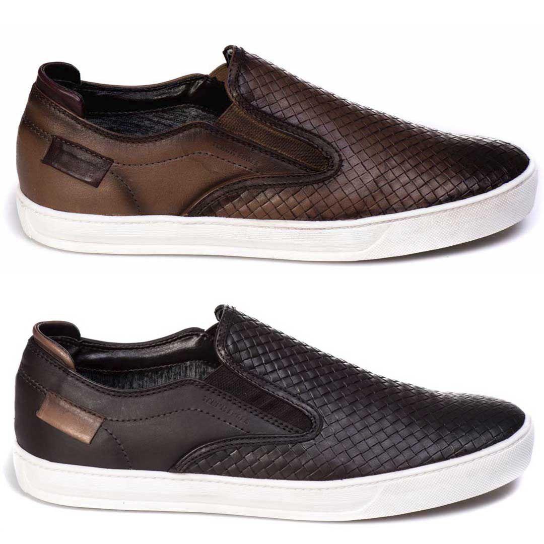 Kit Combo 2 Sapatênis Iate Tchwm Shoes Couro Trissê