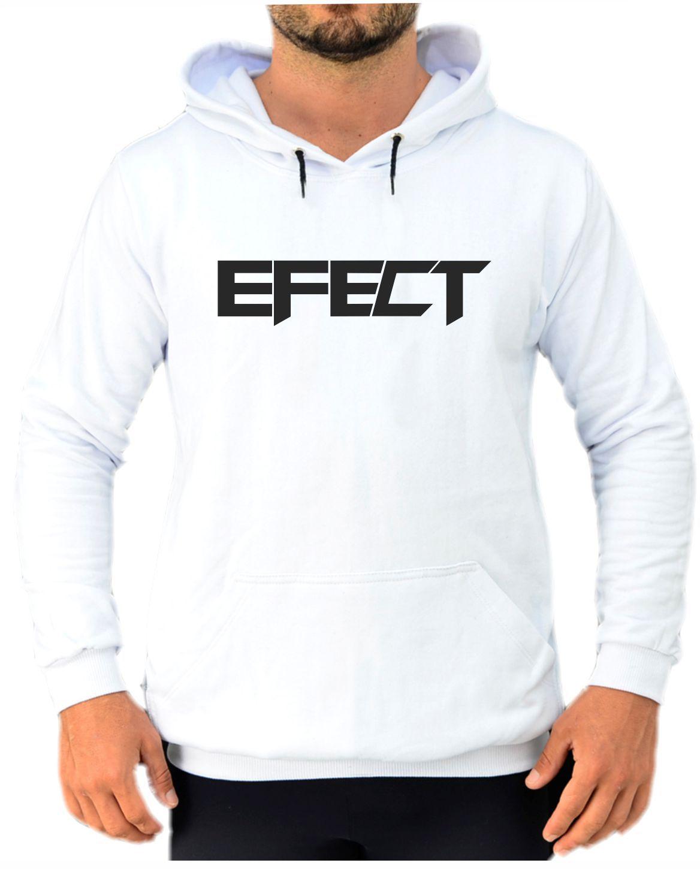 Blusa Moletom Canguru Masculino Efect - Branco