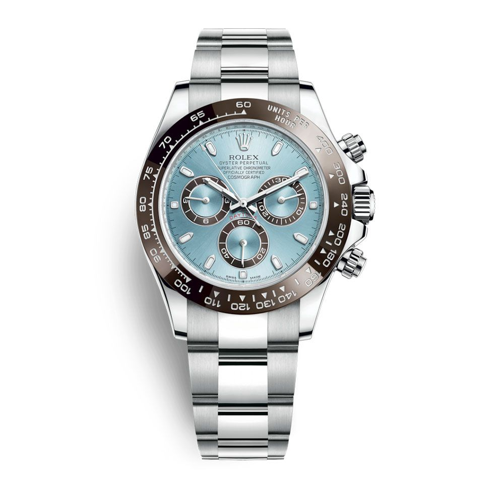 31df2cf0fc1 Relógio Cosmograph Daytona Luxo Importado Azul Claro Marrom - Madrid Outlet