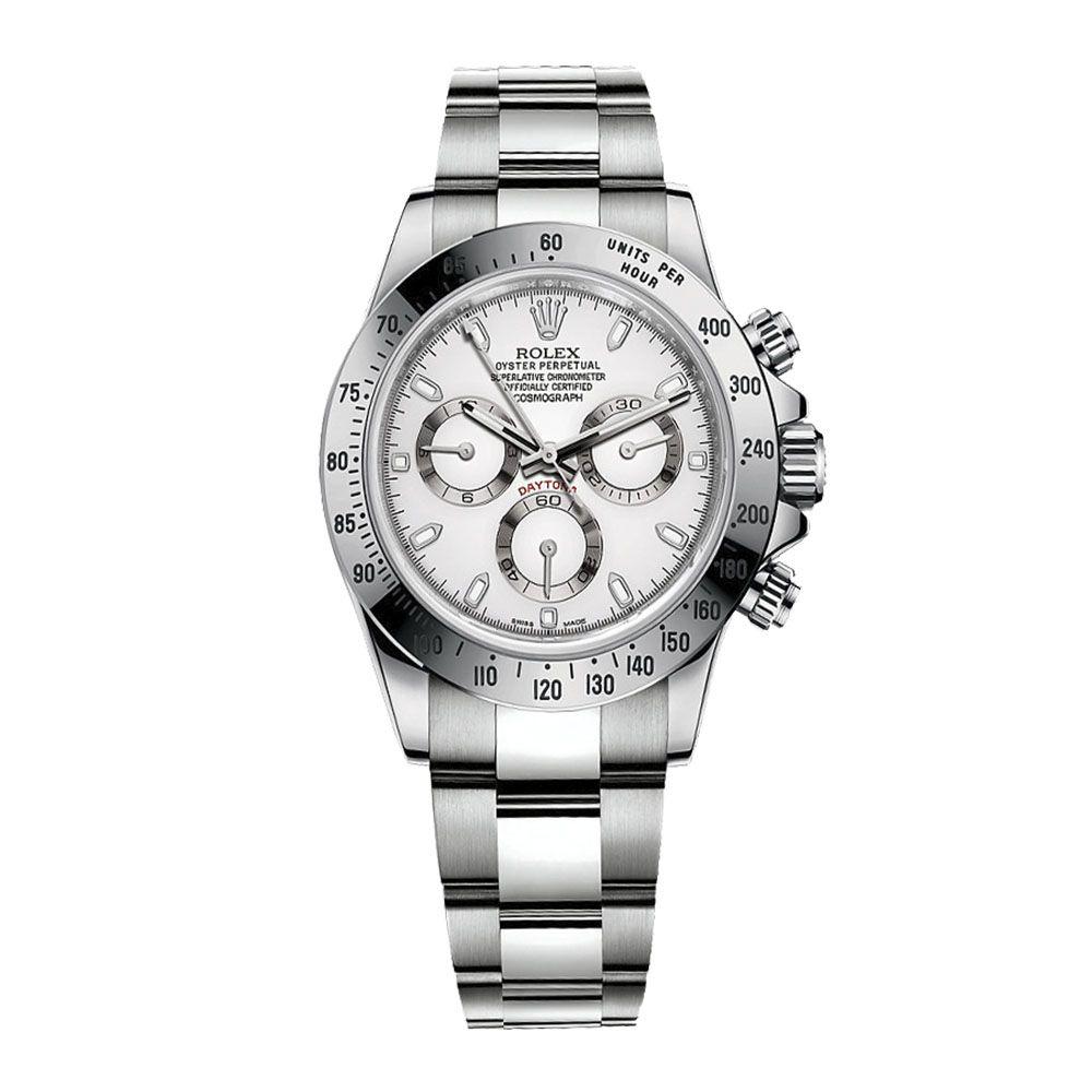 Relógio Cosmograph Daytona Luxo Importado Branco/Cinza