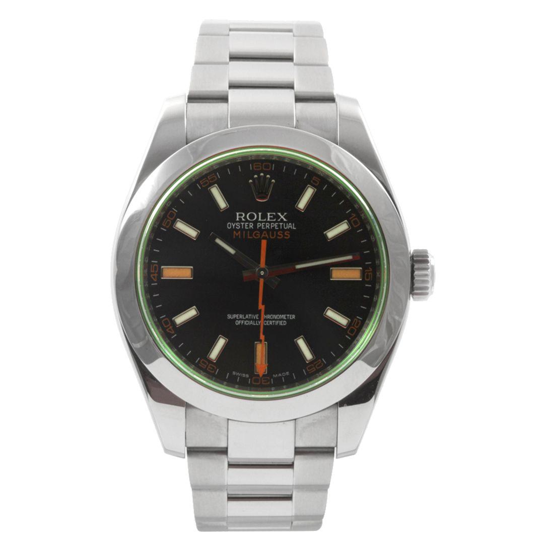 Relógio Masculino Milgauss Base ETA Luxo Importado - Preto Verde