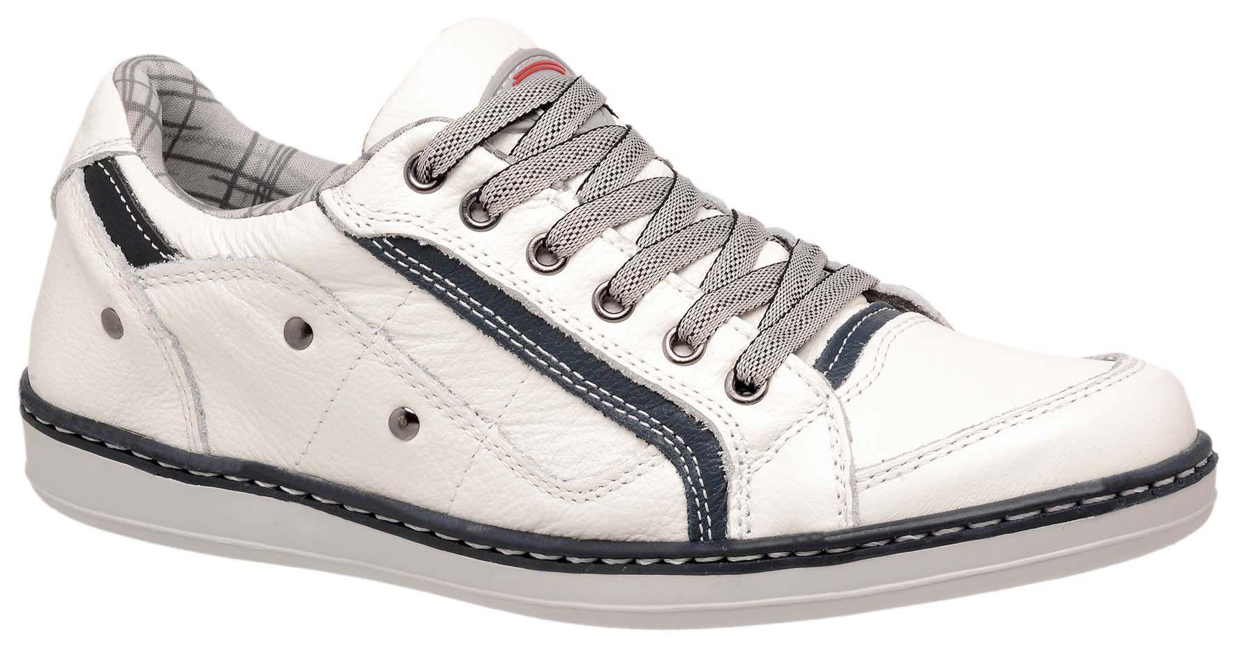 2f243b9c2 Sapatênis Casual Masculino Costurado Tchwm Shoes em Couro Legítimo - Bege
