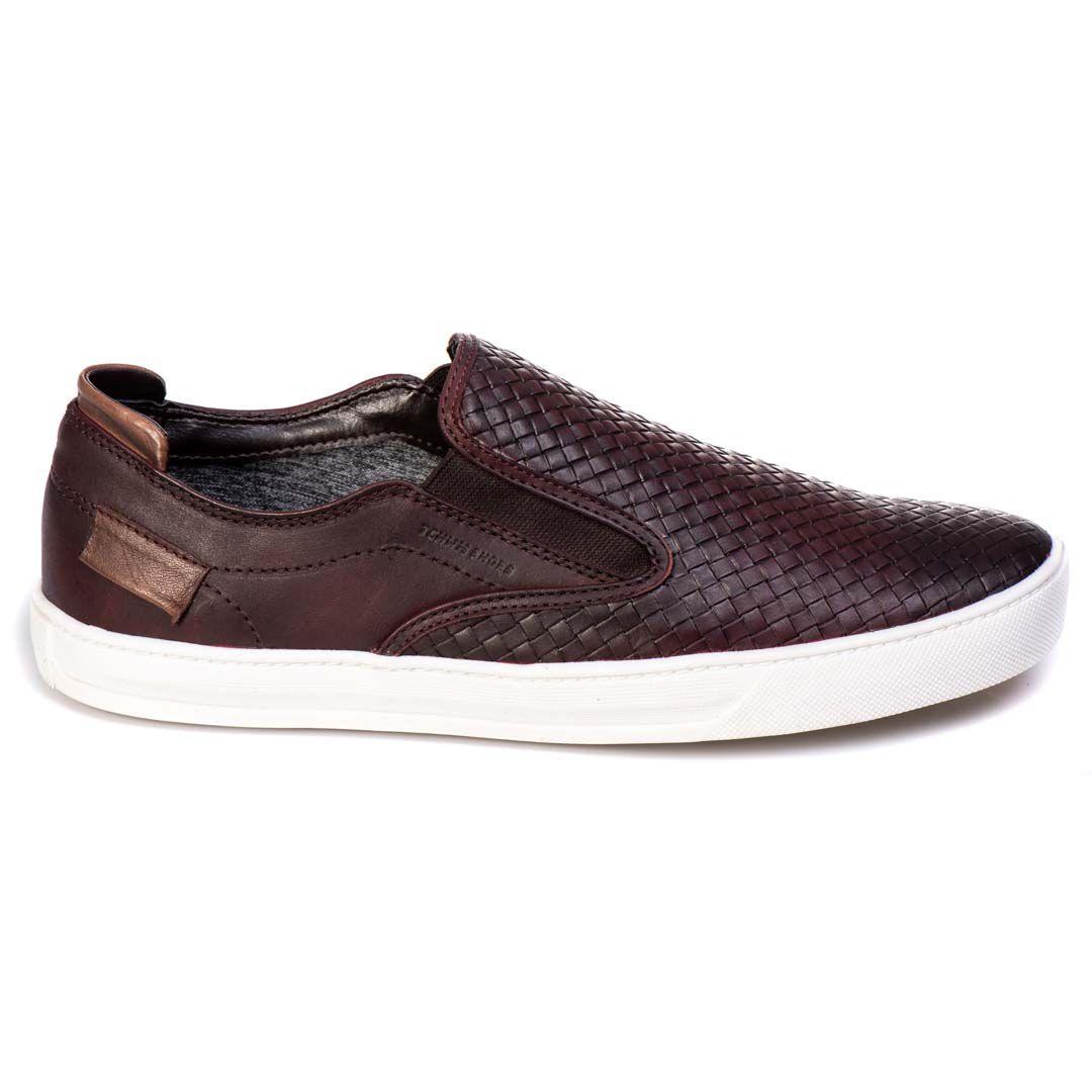 Sapatênis Iate Tchwm Shoes Couro Trissê - Bordo
