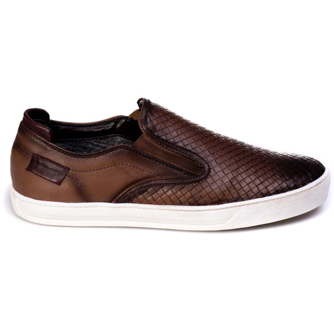 Sapatênis Iate Tchwm Shoes  Couro Trissê - Tabaco