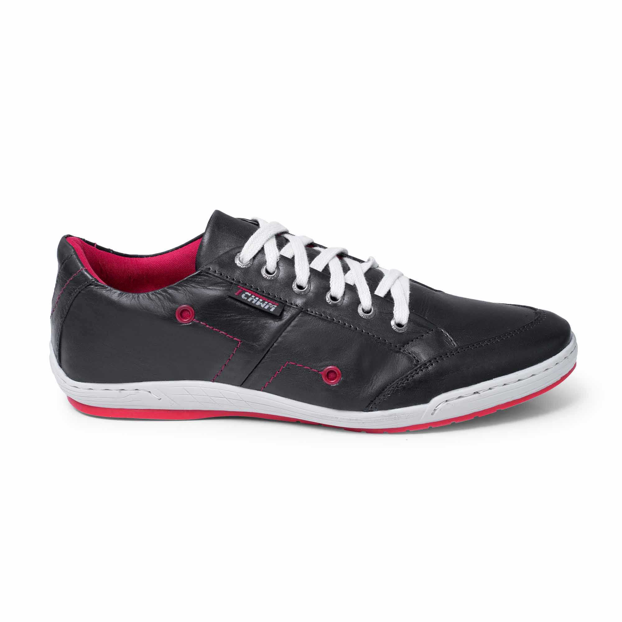Sapatênis Stilo Cadarço Tchwm Shoes Couro Fóssil - Preto