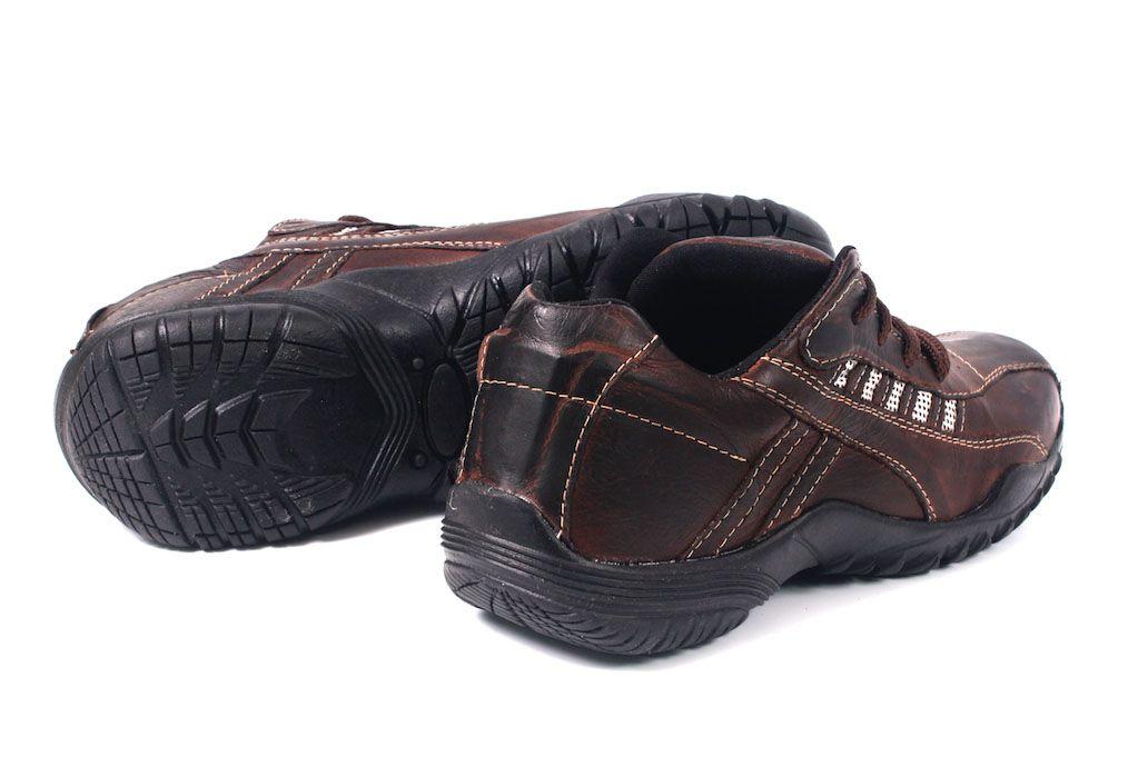 7544edf6ab ... Sapatênis Masculino em Cadarço Tchwm Shoes Couro Legítimo - Marrom ...