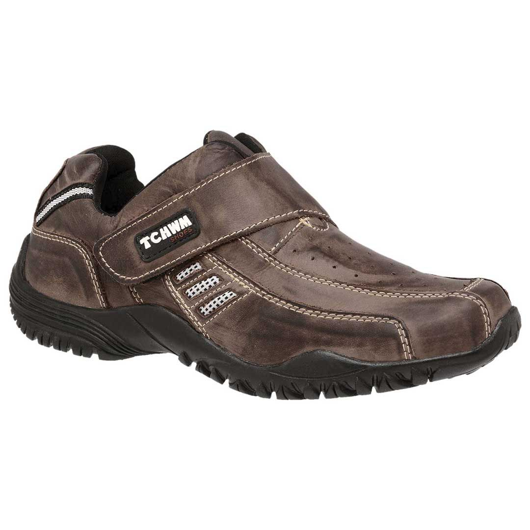 Sapatênis Masculino Tchwm Shoes Couro - Marrom