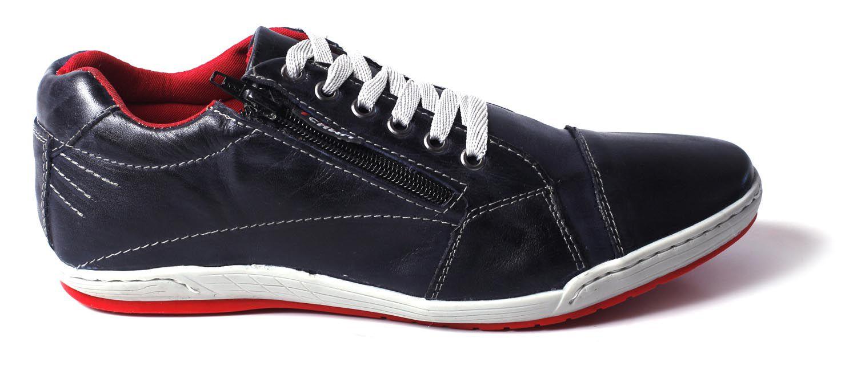 Sapatênis Zíper Stilo Tchwm Shoes Couro Fóssil - Azul