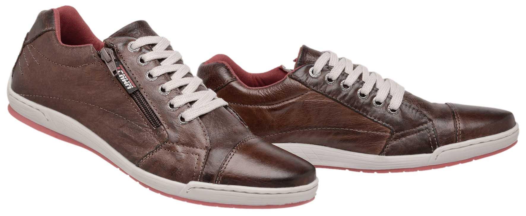 72a452650fb1e ... Sapatênis Zíper Stilo Tchwm Shoes Couro Fóssil - Marrom - Madrid Outlet