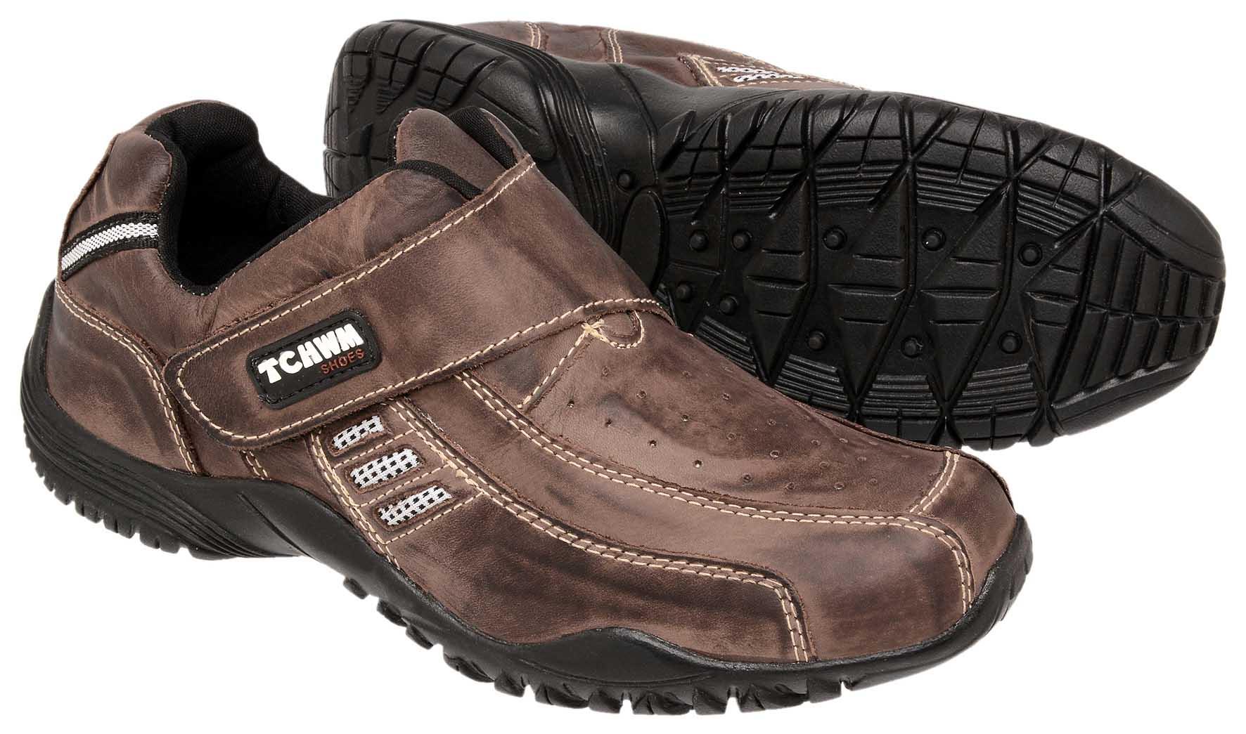 dd061acc4e ... Sapatênis Masculino Tchwm Shoes Couro - Marrom ...