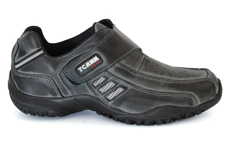 8cf8b2ee7a Sapatênis Masculino Tchwm Shoes Couro - Cinza