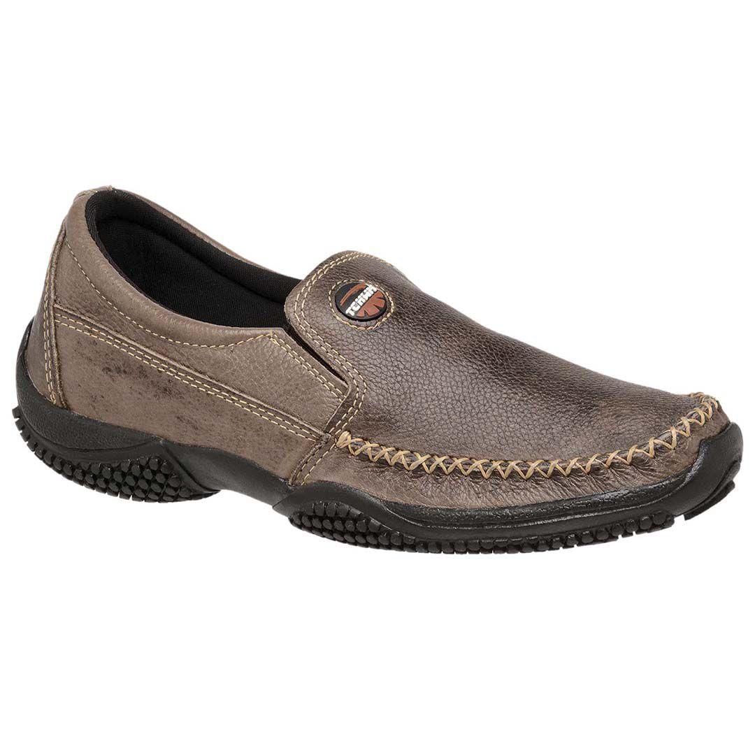 Sapatinha Mocassim Tchwm Shoes Masculino em Couro  - Marrom