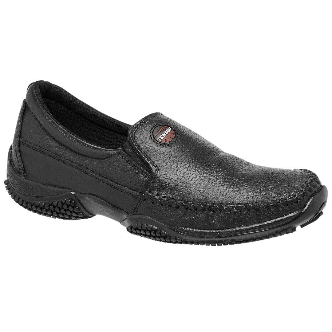 Sapatinha Mocassim Tchwm Shoes Masculino em Couro - Preto