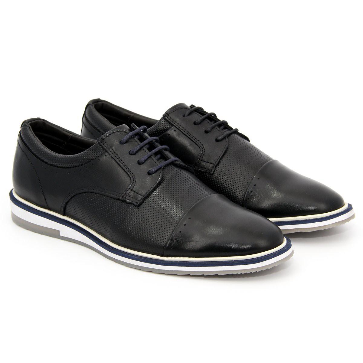 Sapato Brogue Alpha Premium Masculino Polo City Confort  em Couro
