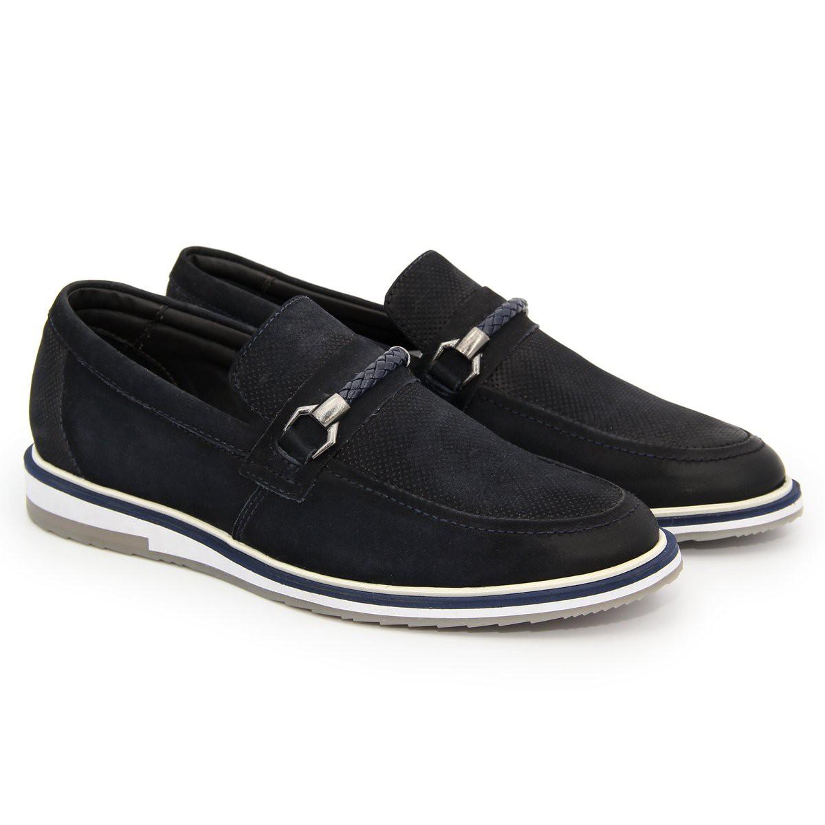 Sapato Brogue Alpha Premium Masculino Polo City Confort  em Couro com Fivela