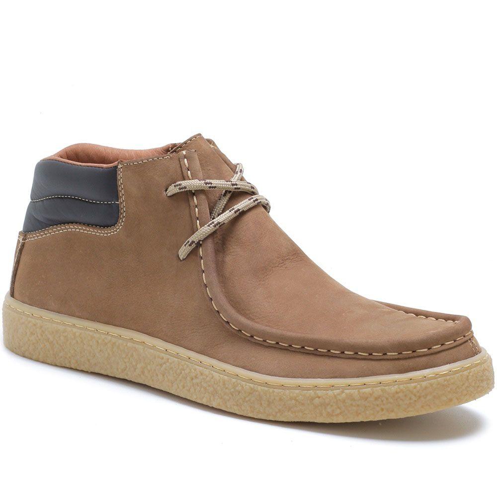 Sapato Cacareco em Couro Nobuck - Areia