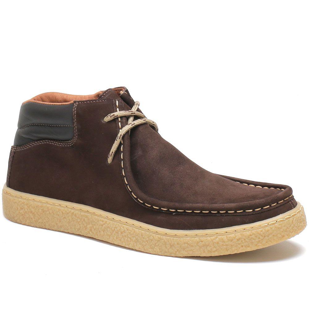 Sapato Cacareco em Couro Nobuck - Café