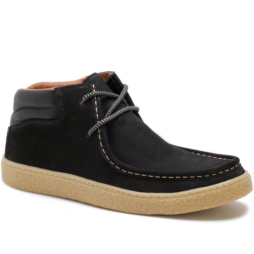 Sapato Cacareco em Couro Nobuck - Preto