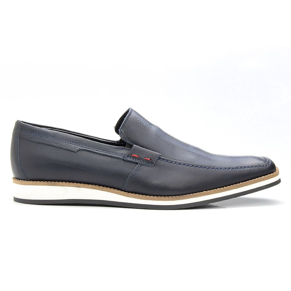 Sapato Casual Dockside Tiguan Bigioni em Couro - Azul