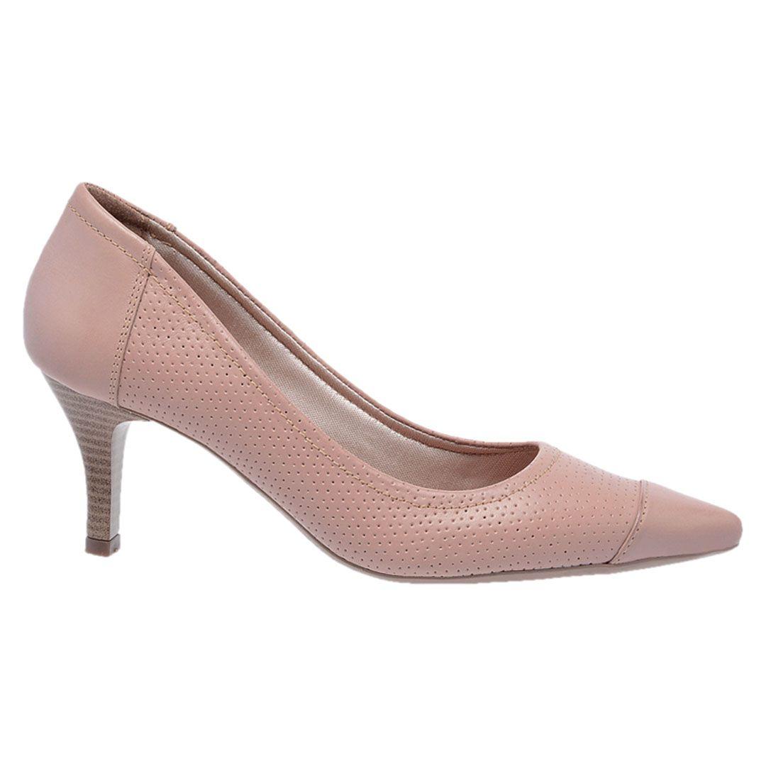 Sapato Feminino Scarpin Couro - Rose