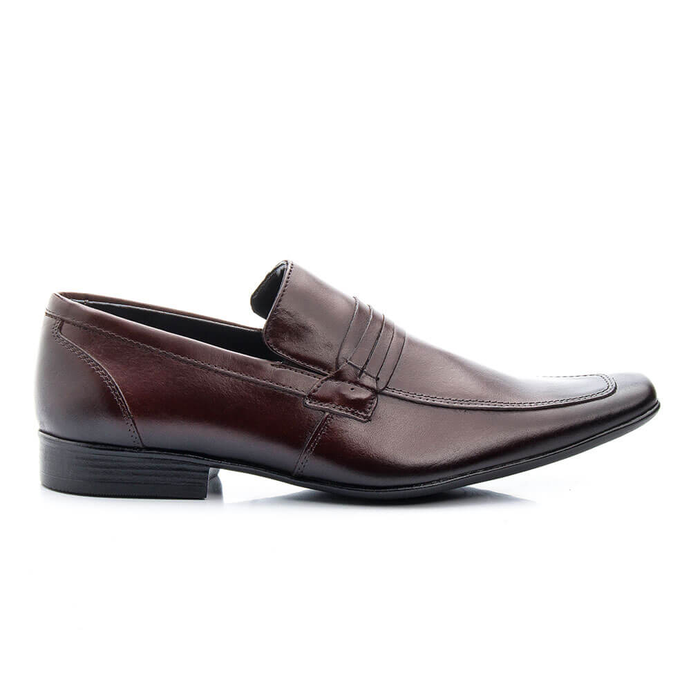 Sapato Social Bigioni Clássico em Couro  - Marrom