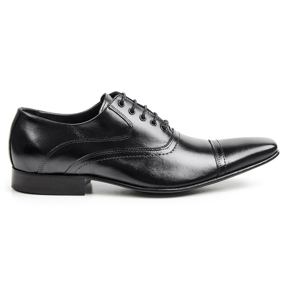 Sapato Social Bigioni Masculino Clássico Cadarço Couro Liso