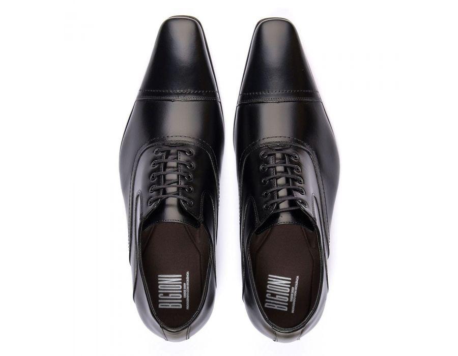 356fe33861 ... Sapato Social Bigioni Masculino Clássico Cadarço Couro Liso
