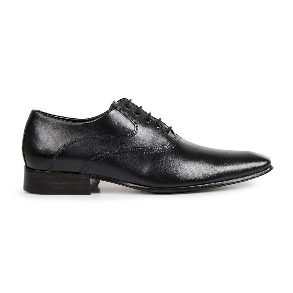 Sapato Social Bigioni Masculino Clássico Couro Liso - Preto
