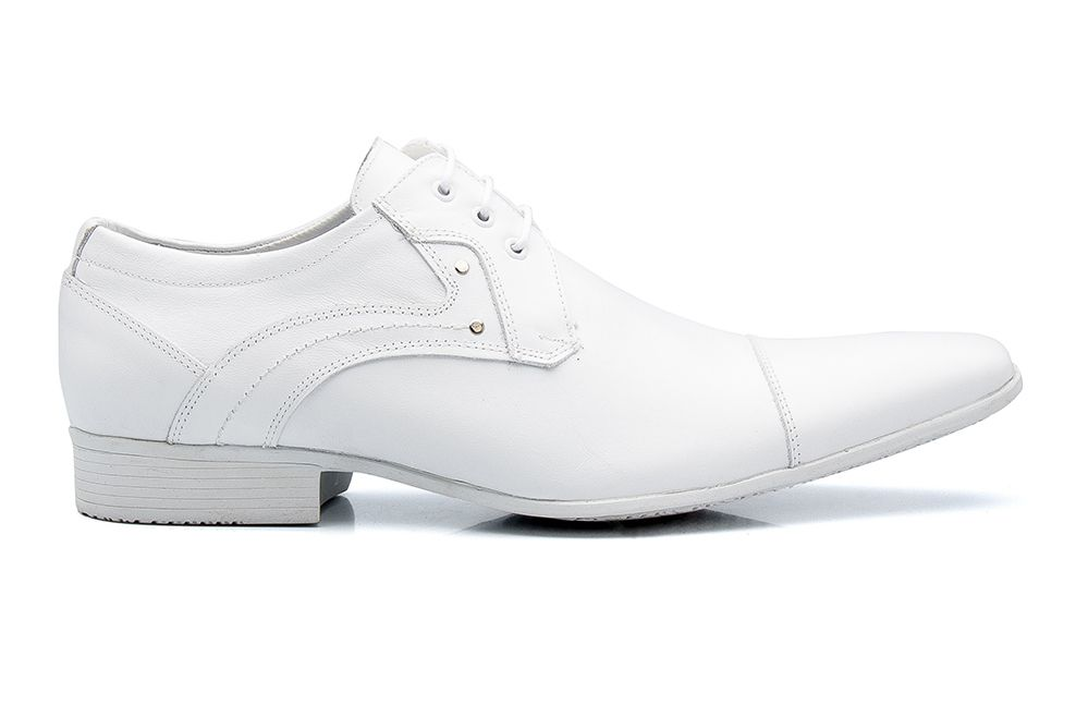 1df6620b7 Sapato Social Bigioni Masculino Estilo Médico Amarrar Couro Liso - Branco