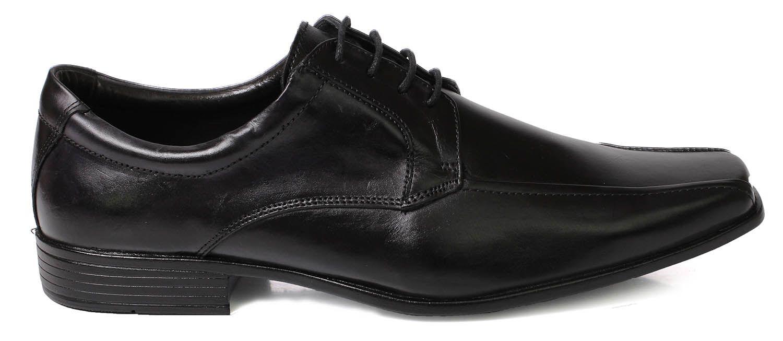b1c706e36ab49 Sapato Social Tchwm Shoes Masculino com Cadarço Couro - Preto ...