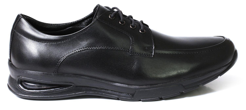 Sapato Social Tchwm Shoes Confort Cadarço Couro - Preto